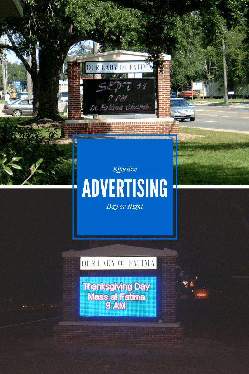 Outdoor Church Signs - Why Choose a Digital Lighted LED?